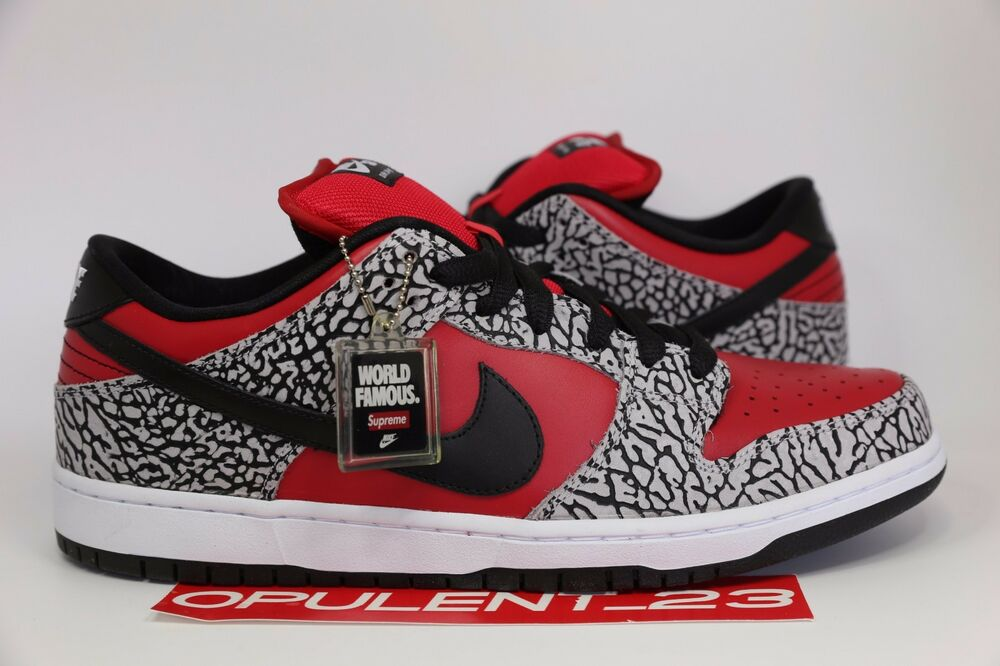Details about NIB Nike DUNK Low SB Supreme Size 9.5 Elephant Cement Print 10 Galaxy Yeezy 2012
