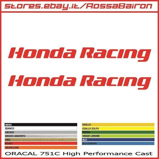 KIT 2 2 2 ADHÉSIFS HONDA RACING mm.300x30 - MOTOGP STICKERS AUTOCOLLANT PEGATINAS 0817bd