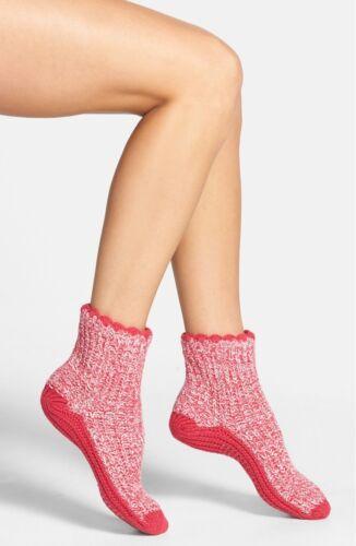 Nordstrom Pink Multi Cozy Sweater Slipper Socks One Size