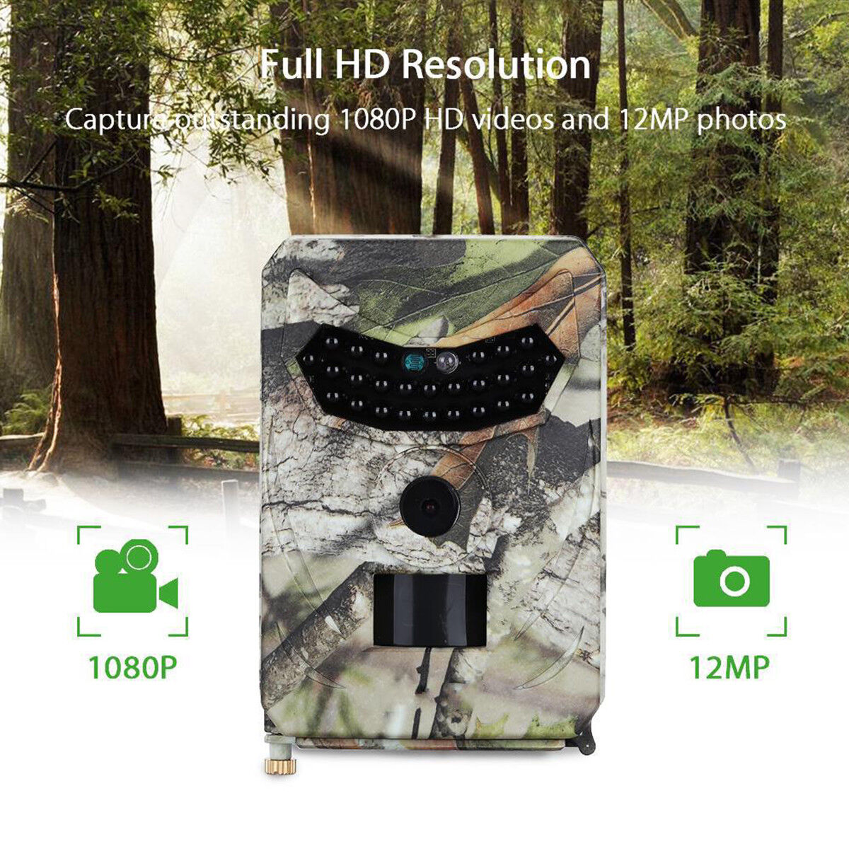 12MP 1080P HD Wildlife Hunting  Trail Animal Infrared Vision Night Digital Camera  fast delivery and free shipping on all orders