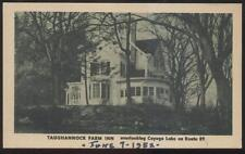 Postcard CAYUGA LAKE New York/NY  Taughannock Farm Tourist Inn view 1940's