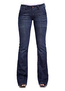 Vaquero Bootcut De Mujer Pantalones Mezclilla Azul Oscuro Lavado Talla 32 46 Ebay