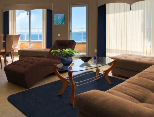 SKID-RESISTANT RUG living area carpet kitchen floor mat NAVY BLUE