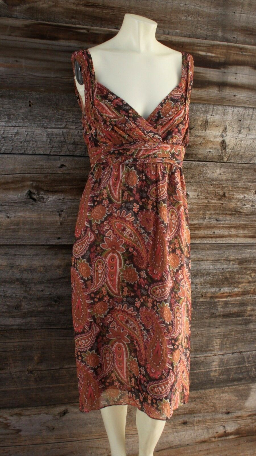 Sundance Paisley Silk Dress Size 14 14 14 7be978