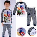 Le Avengers Pyjama Enfants Costume Bébé Garçon Coton Ensemble 1~7Y