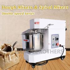 Hakka Commercial Dough Mixer 50qt 60qt Fixing Head 2 Speed Spiral Pizza Bakery