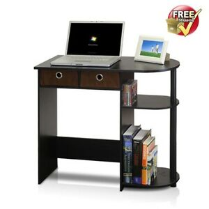 Details about Computer Desk For Small Spaces College Dorm Apartment Drawers  Storage