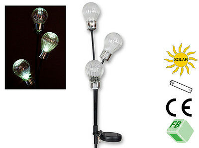 "Gartenstecker Solarleuchte LED /"" Glühbirne /"" Kunststoff Art 61088 Amsel Neu"