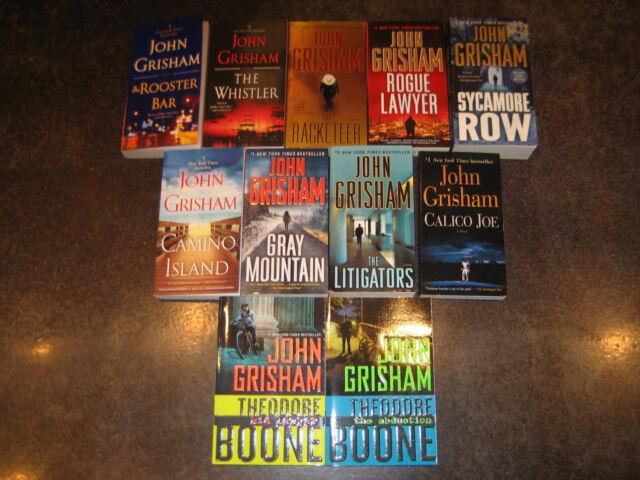 11 Book Lot John Grisham Rooster Bar Gray Mountain Whistler Camino Island More