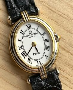 NOS-New-Michel-Herbelin-Paris-7978-Fonctionnel-Quartz-Vintage-19-mm-France-Watch
