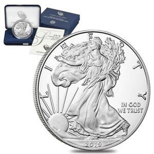 2019-S 1 oz Proof Silver American Eagle (w/Box & COA)