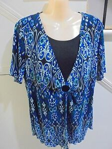 MILLERS-NWT-SIZE-18-PERRIWINKLE-SCROLL-PRINT-TWOFER-PLEAT-TOP