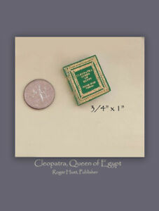 Cleopatra-Queen-of-Egypt-Roger-Huet-Leather-Micro-Miniature-Book