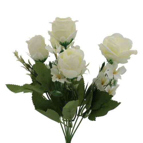 Ramo De Flores De Seda Artificial Rosa para Boda Memorial de la tumba de San Valentín