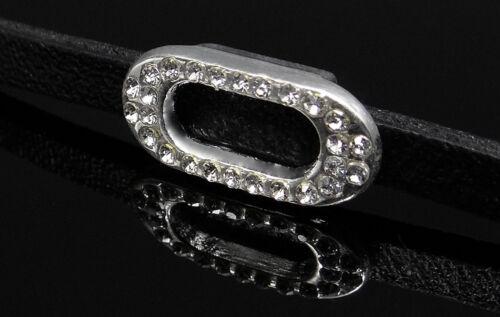 0610070 Schiebeperle entre elementos pedrería metal perlas slide charm