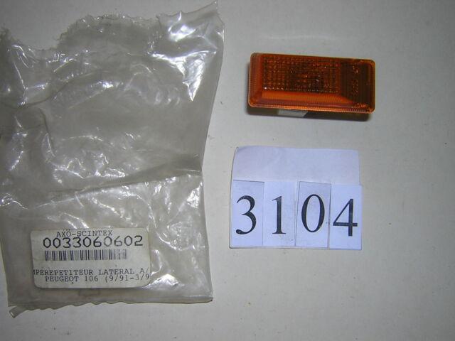 3104 feu latéral repeteur clignotant orange pour peugeot 106 neuf