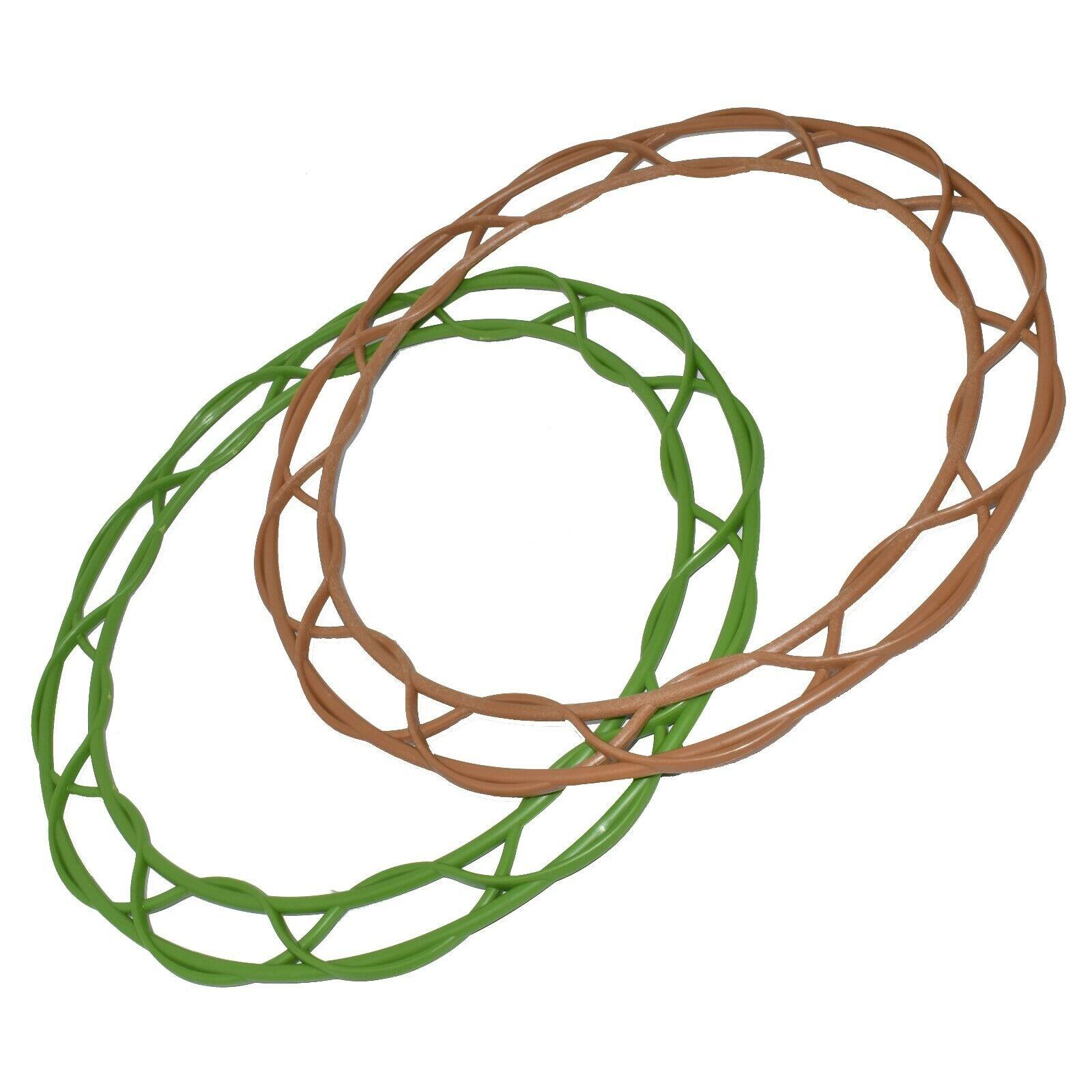 Corona decoración de marco de plástico plano 12