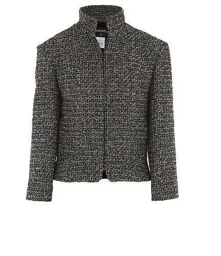 12 A $4585! New Chanel Black White Fantasy Tweed W Gold Suit Fitted Jacket 34 by Chanel