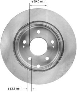 Galant Front Blank Brake Rotors+Ceramic Pads Fit 2006-2012 Mitsubishi Eclipse