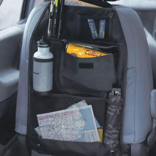 Asiento trasero coche furgoneta Niños Organizador Ordenado multibolsillos REPOSACABEZAS almacenamiento containe O4Z8