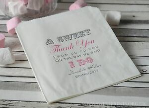 Image Is Loading Personalised Wedding Sweet Sweetie Candy Cart Favour Bags