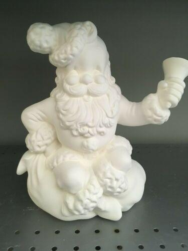 Vintage 1960 Atlantic Santa Claus Ringing Bell Christmas* Ceramic Bisque