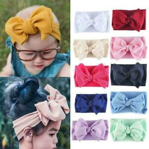Kid-Girl-Baby-Headband-Toddler-Lace-Bow-Flower-Hair-Band-Headwear-Accessori-D7Z4
