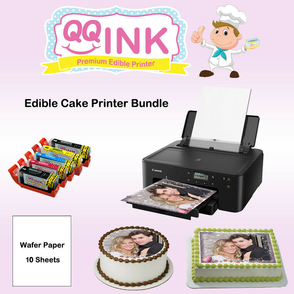 Edible Printer Bundle Canon Printer W/ Wafer Paper & Edible Ink Cartridges. Buy it now for 295.00