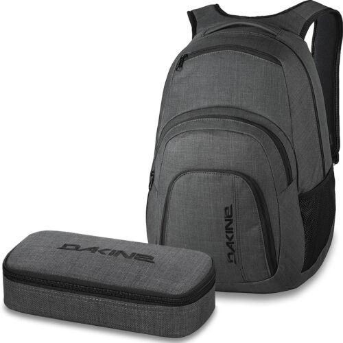 DAKINE SET Laptop Rucksack Schulrucksack CAMPUS LG 33l SCHOOL CASE XL Mäppchen