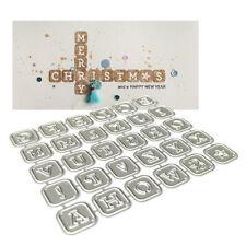 DIY LETTER ALPHABET METAL CUTTING DIES SCRAPBOOKING PAPER CARDS ALBUM STENCIL