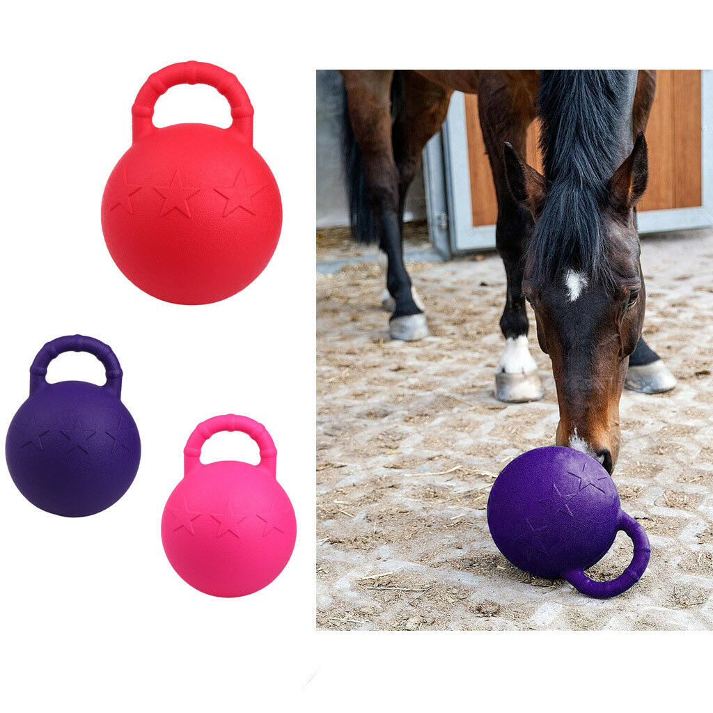 28cm Horse Toy Game Ball with Fruit Scent Horse Training & Playing Tool