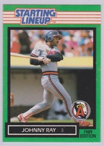 1989  JOHNNY RAY - Kenner Starting Lineup Card - CALIFORNIA ANGELS (LA)