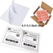 Half Sheet Self Adhesive Shipping Labels For Laserampinkjet Printers3005001000