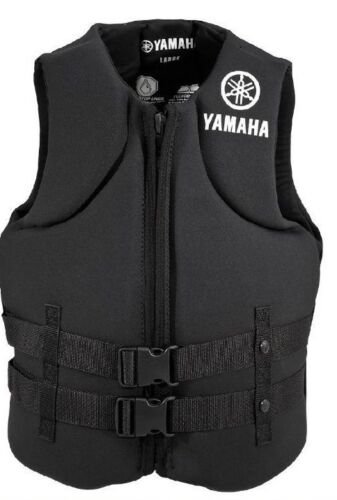 YAMAHA Neoprene USCG Approved Life Vest Jacket Unisex BLUE BLACK 2015 Value
