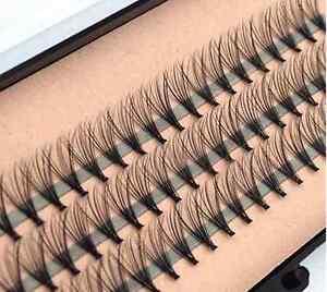 62d94223eee 8/10/12/mm Makeup Individual Cluster Eyelashes False Eye Lashes ...