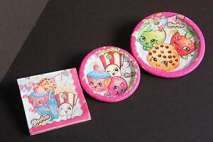 Shopkin Cake Food Plates Napkin Set Party Birthday Supply Girl Decoration