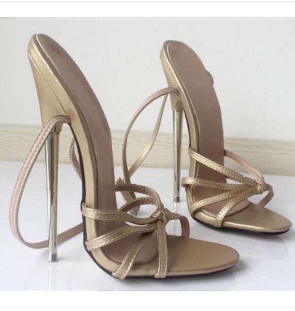 Femmes Sexy Roman Super talon haut 18 cm à Lanières Talon aiguille Sandales Femme Chaussures