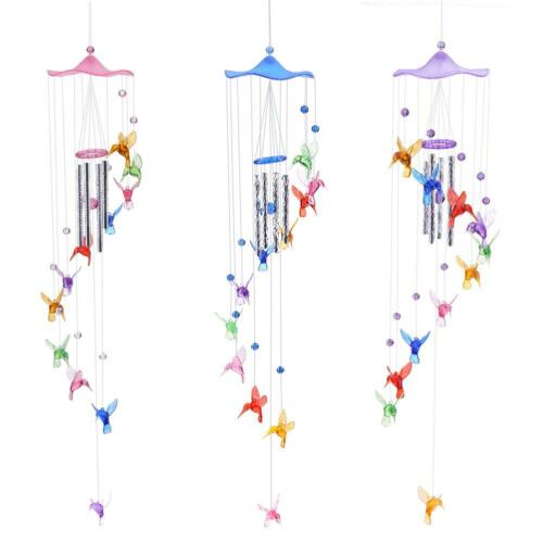 Creative Lucky Humming Bird Wind Bells Chimes Hanging Gifts Home Decor Heiß