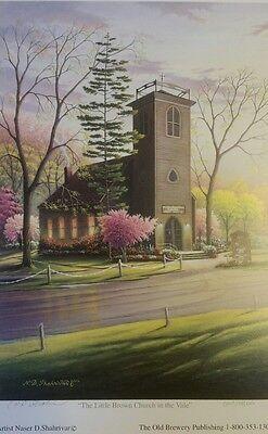 """Nashua Iowa/""""The Little Brown Church in the Vale/"""" Naser Shahrivar Print 15x24/"""""""