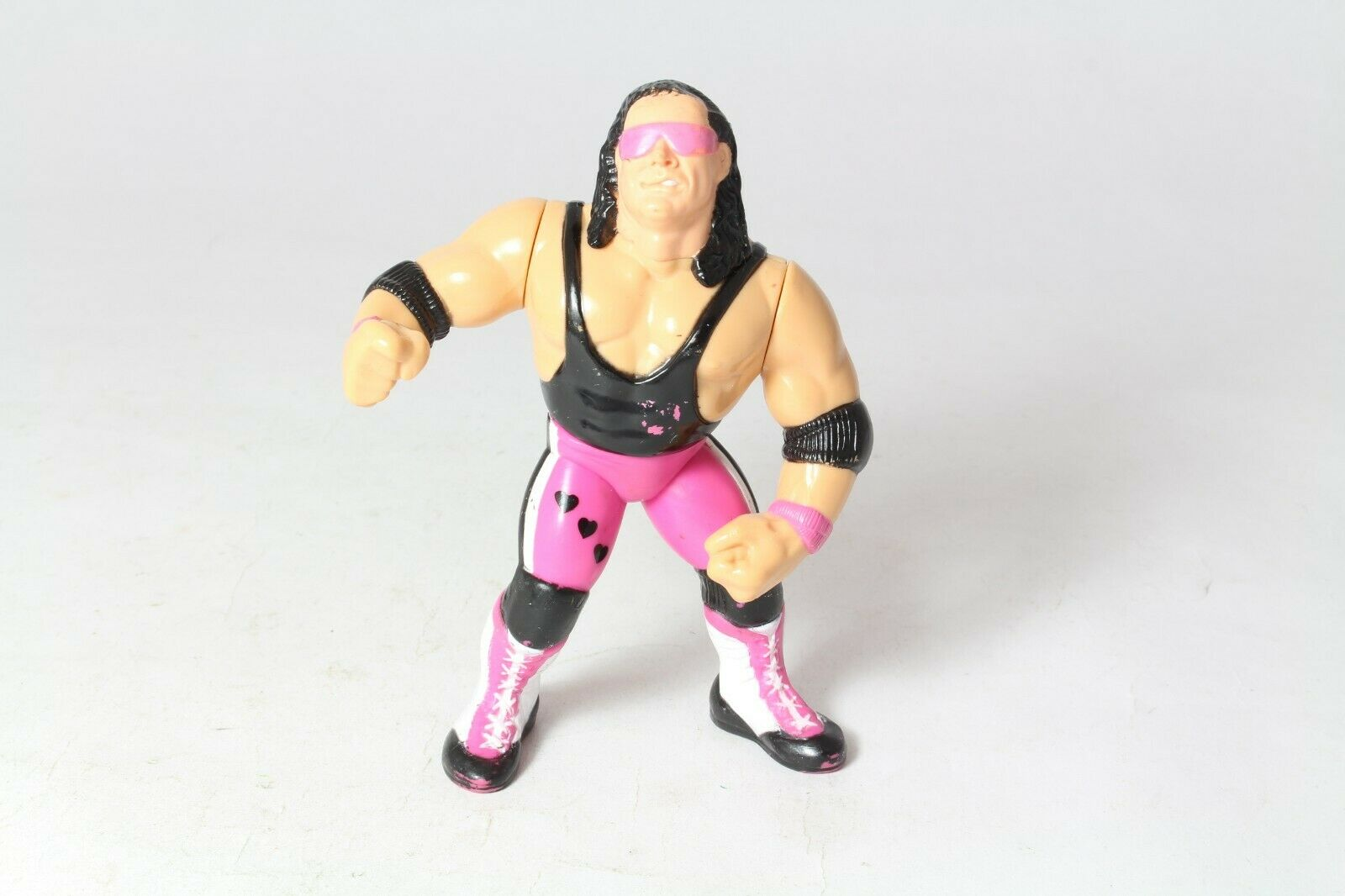 Hasbro WWF WWE Wresting Action Figure Bret Hart Purple Heart Played With