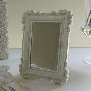 Small-ornate-cream-mirror-shabby-vintage-chic-home-gift-wall-french