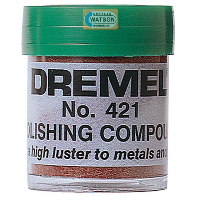 DREMEL Multi Tool Accessories 421 Polishing Buffing Compound Plastic Metal