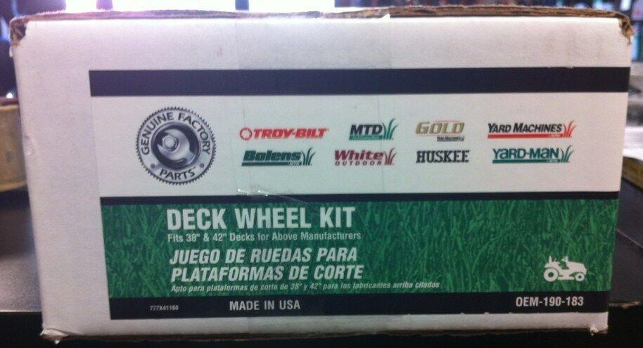 38  & 42  MTD Cubierta Rueda Kit para Cortadora de artesano (tipo Omp)