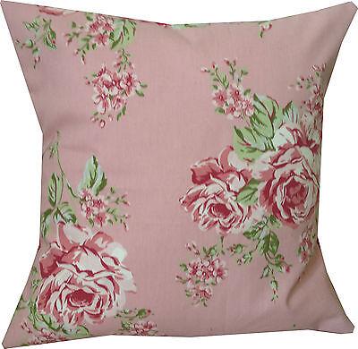 """Designer rose pink summer vintage chic floral flower cushion cover 16"""""""