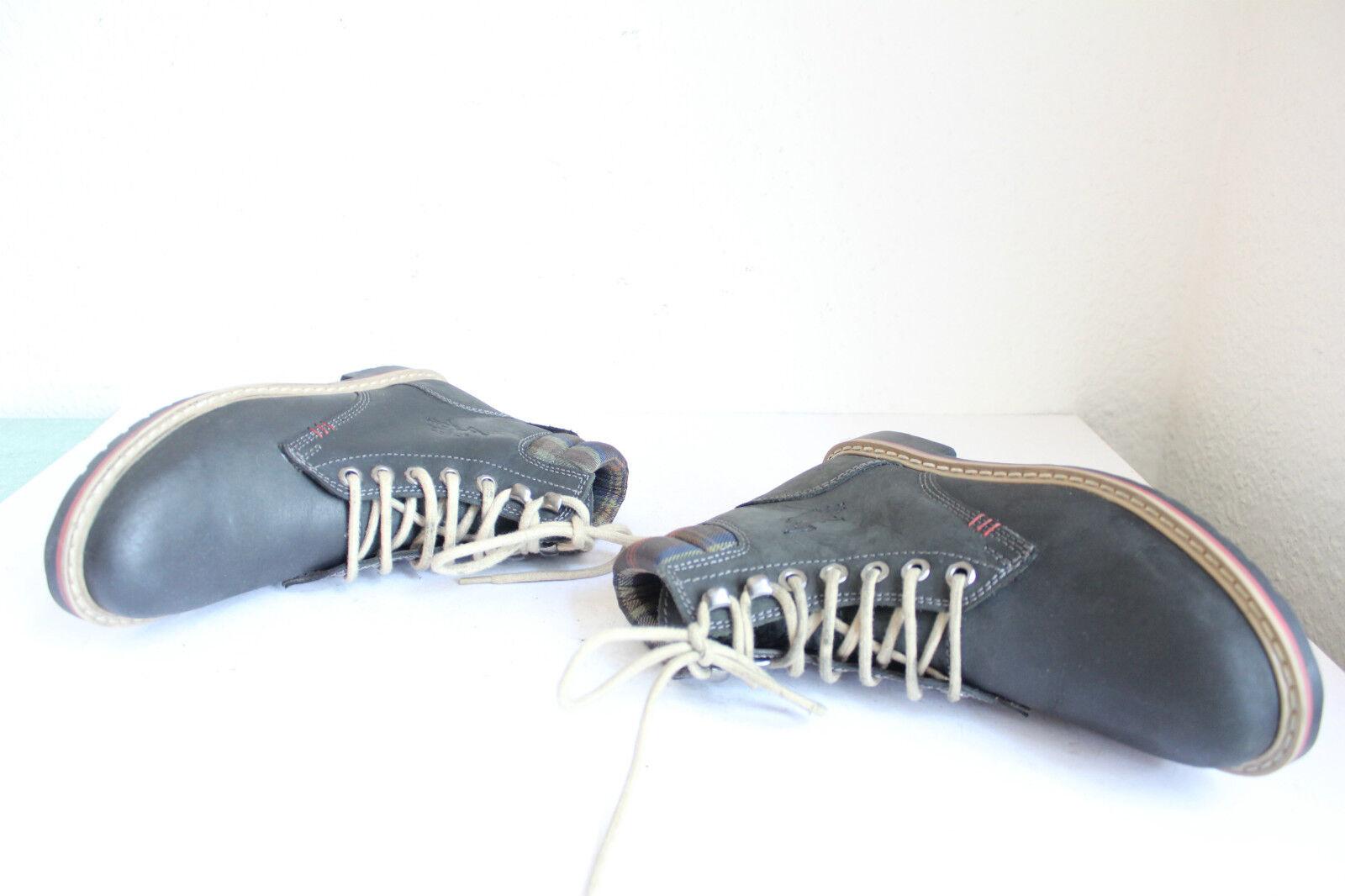 US POLO ASSN Elegante Boots Schnürstiefeletten Echtleder Eu:39 WIE NEU