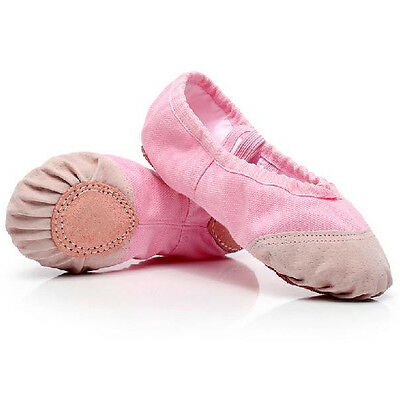 Child Adult Canvas Ballet Dance Shoes Slippers Pointe Dance Gymnastics #20 Sizes