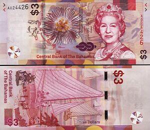 2019 BAHAMAS 3 DOLLARS P-NEW UNC/> /> /> /> /> /> /> /> />QUEEN E II FLOWER SAILING BOATS