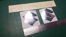 Chrome Suzuki Tank Logo Decal Stickers x2 , Mirror, GSXR, Bandit, burgman, SV,