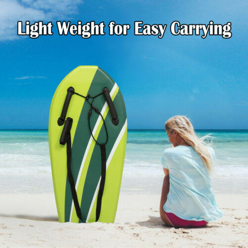 """36/"""" Beginners Light Weight Body Board Hand Hold Surfing Board With Grips Beach"""