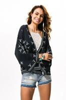 ​Women Chiffon Blouse Snowflake Pattern Beach Kimono Cardigan Long Sleeve Casual